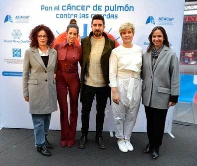 Campaña 'Pon al cáncer de pulmón contra las cuerdas', para informar y sensibilizar a la población española sobre el cáncer de pulmón