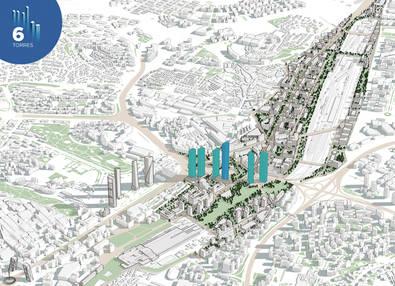 DCN construye el nuevo distrito de negocios de Madrid con seis nuevas torres