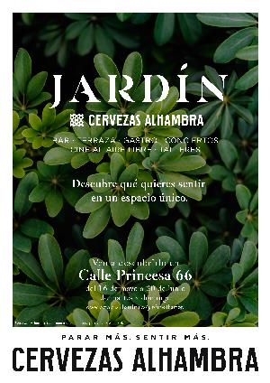 El espacio Jardín Cervezas Alhambra invita a disfrutar de los cinco sentidos
