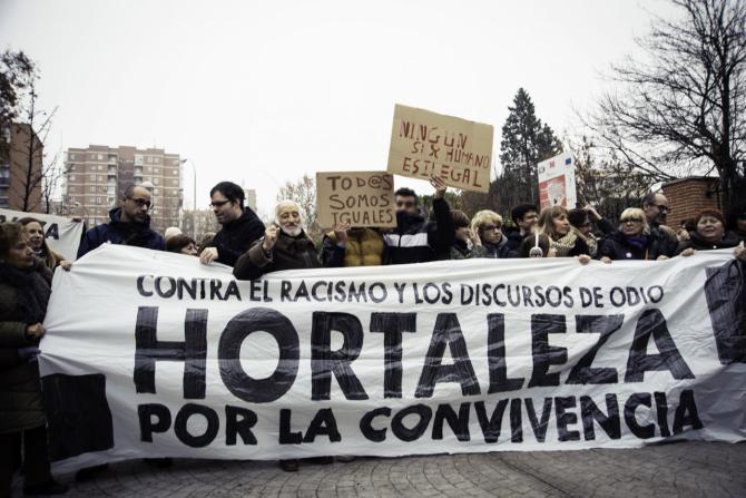 Hortaleza se manifiesta por la convivencia, contra el racismo y los discursos de odio