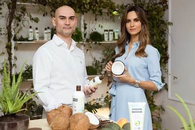 Ariadne Artiles invitada de excepción en la presentación de la gama de cosmética natural de ALDI