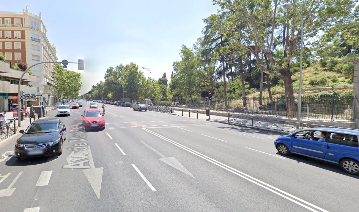 Imagen de Google Maps de la avenida de Menéndez Pelayo.