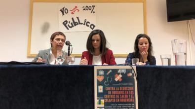 De izquierda a derecha, Carmen San José, Carolina Domínguez y Diana Llorens.