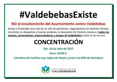 Los vecinos de Valdebebas convocan una concentración ante la Junta