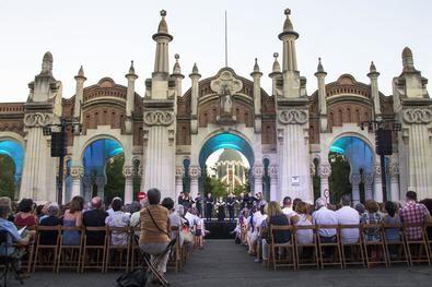 Un concierto en la capilla de La Almudena en una imagen de archivo.