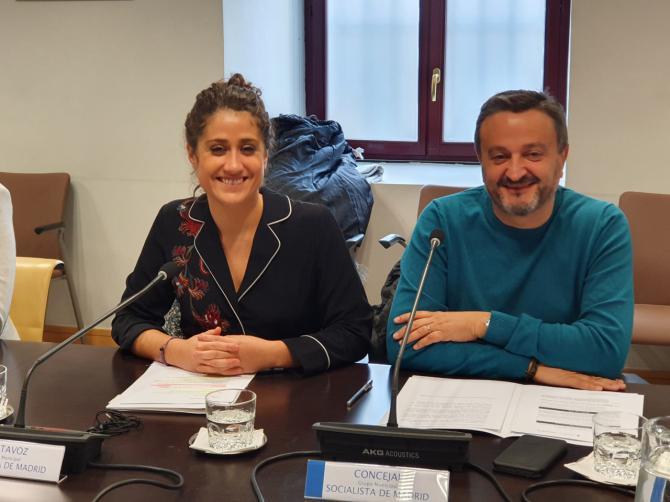 Enma López y Pedro Barrero, concejales del PSOE.