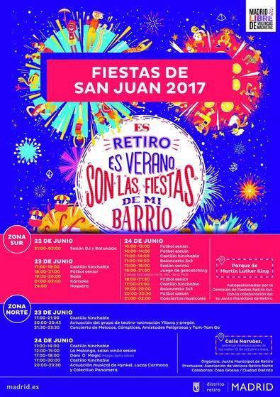 Las Fiestas de San Juan, por el norte y el sur de Retiro