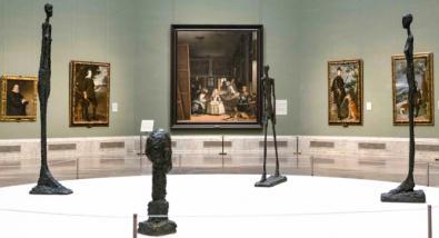 Alberto Giacometti, en el Museo del Prado