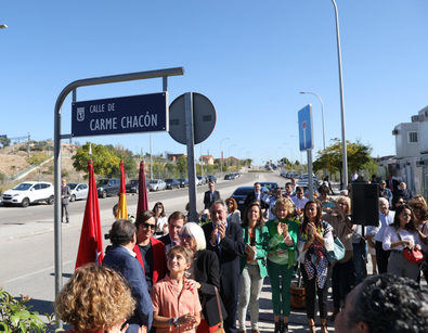 Carme Chacón ya tiene su calle en el distrito de Fuencarral El Pardo