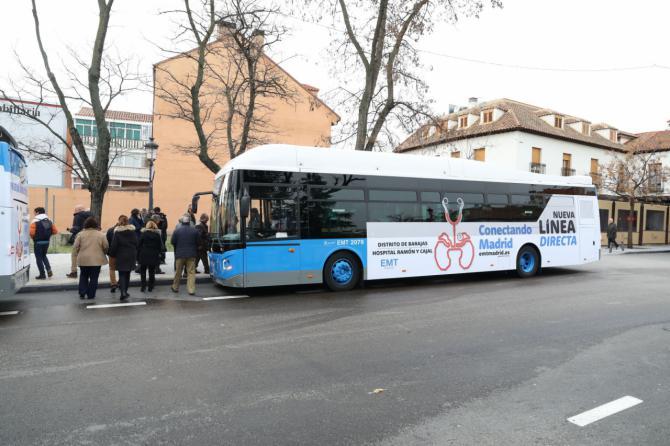 Por fin, en bus al Ramón y Cajal desde Barajas