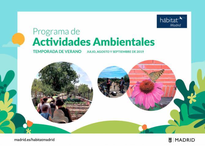 Talleres y visitas guiadas ambientales para disfrutar Madrid durante el verano