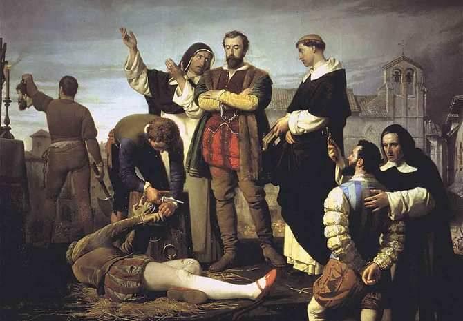 'Los comuneros Padilla, Bravo y Maldonado en el patíbulo', de Antonio Gisbert Pérez. 1860. (Congreso de los Diputados, Madrid).