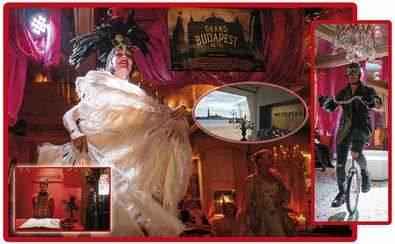 Gran fiesta en el hotel Metropole Venecia bajo la temática del gran hotel Budapest