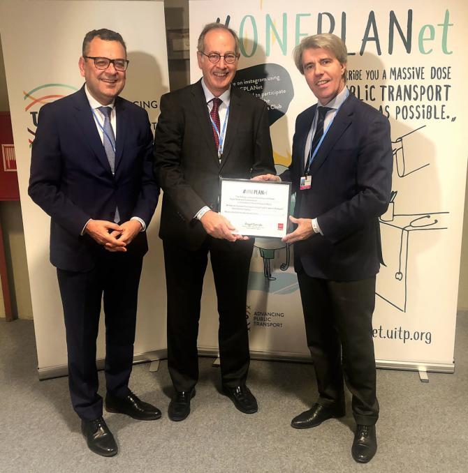 El consejero de Transportes, Movilidad e Infraestructuras, Ángel Garrido, nombrado embajador de la campaña ONEPLANet