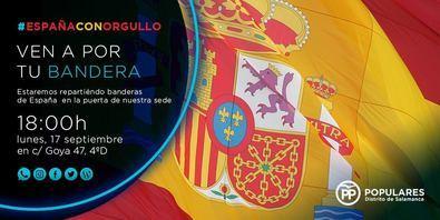 El PP del distrito repartirá banderas de España