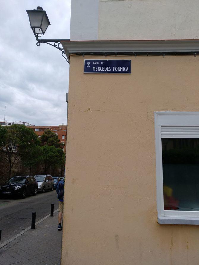 Mercedes Formica da nombre a la que fue calle de Eduardo Aunós.