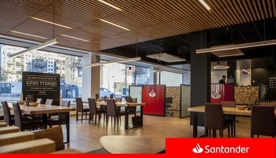 Banco, 'cowork' y café de especialidad, en Valdebebas