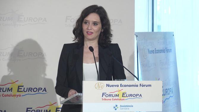 La presidenta regional defendió la cooperación entre empresas para atraer inversión internacional.
