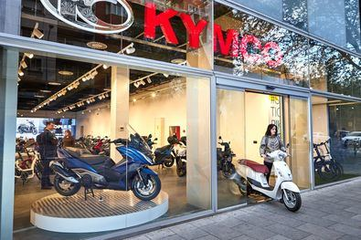 Nuevo 'showroom' de KYMCO, junto a la 'Milla de Oro'