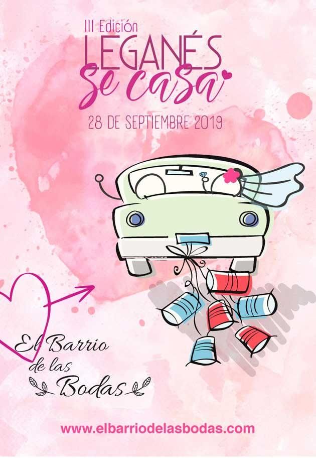 Cartel de la Feria 'Leganés se casa' 2019.