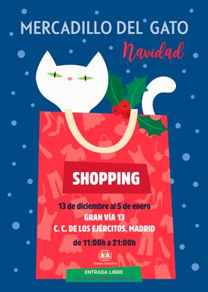 El tradicional Mercadillo del Gato vuelve a la Gran Vía por Navidad
