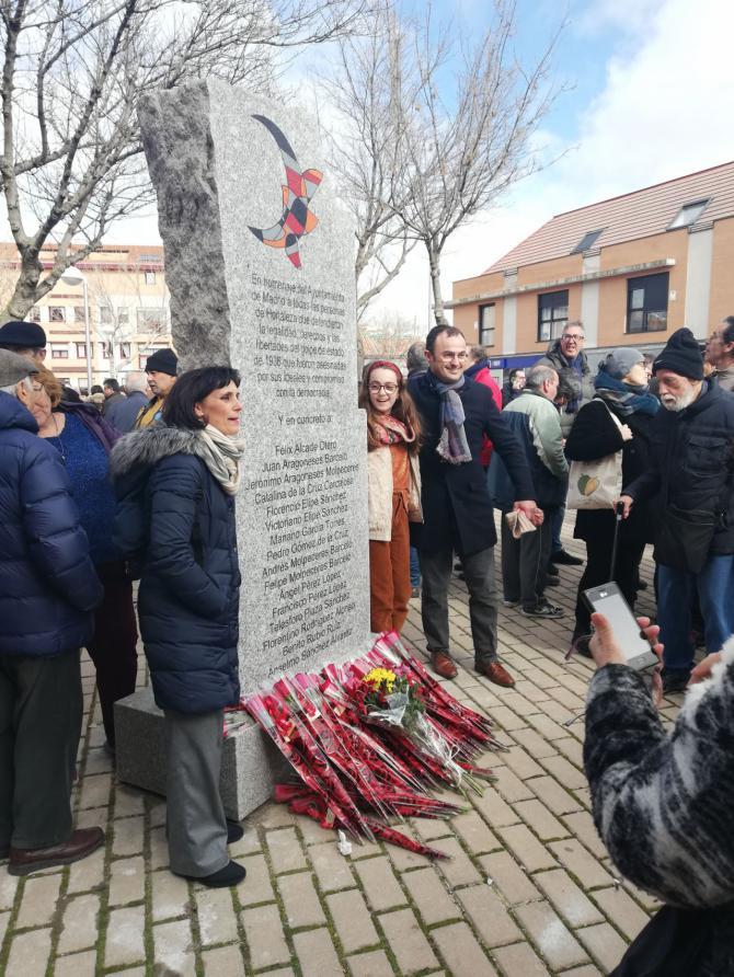 Familiares de los homenajeados celebraron el acto de reconocimiento.