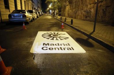 Empieza la señalización de Madrid Central