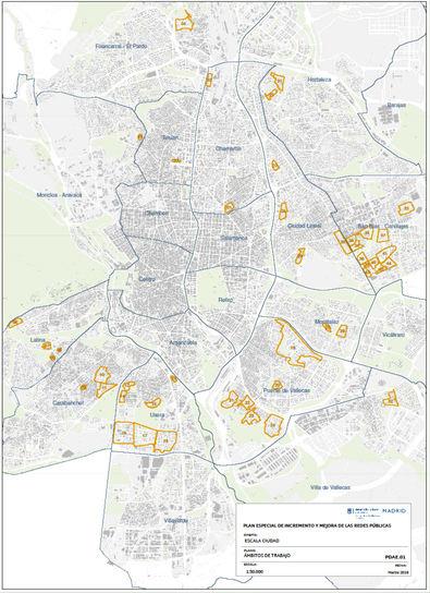 Mapa de los barrios afectados.