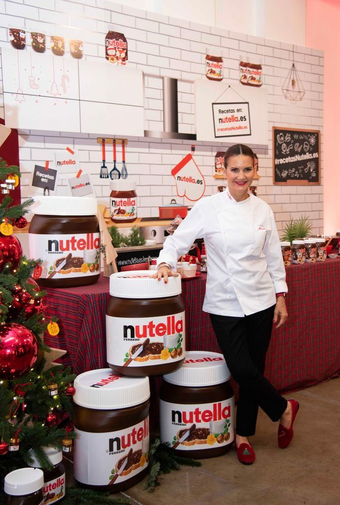 Samantha Vallejo-Nágera ha conducido la clase magistral de galletas navideñas de Nutella.