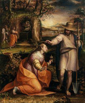 'Noli me tangere', Lavinia Fontana. Óleo sobre lienzo, 1581, Florencia. Galleria degli Uffizi, Galleria delle statue e delle pitture.