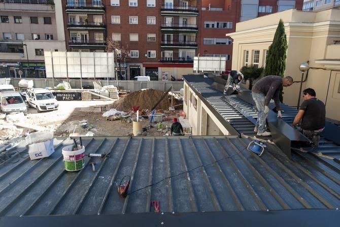 Obras en el solar de la calle de Cartgena.