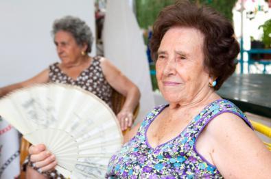 Los mayores ante la ola de calor
