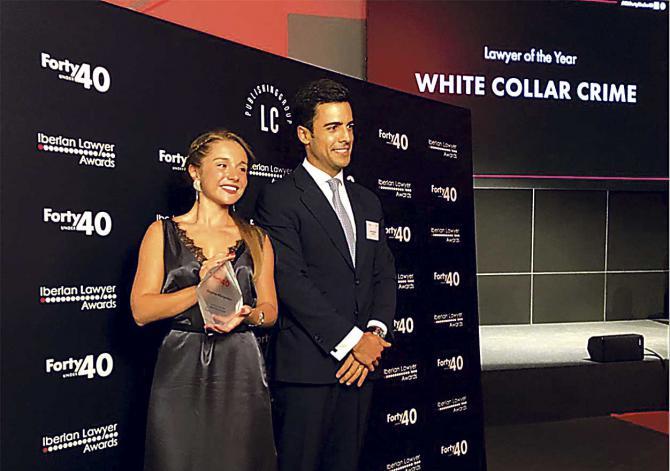 Juan Gonzalo Ospina y Beatriz Uriarte, letrados de Ospina Abogados, reconocido como mejor despacho penalista de 2019 en la categoría 'White Collar Crime'.