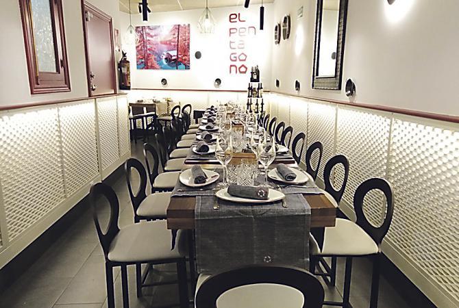 El Pentágono es tu lugar en el barrio de Salamanca para disfrutar de las más exquisitas recetas de arroz, lo mejor de la cocina española y una selección de ibéricos que te dejará sin palabras.