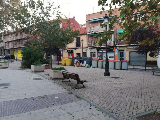 La plaza del Dr Calvo Pérez, en el casco antiguo de Hortaleza