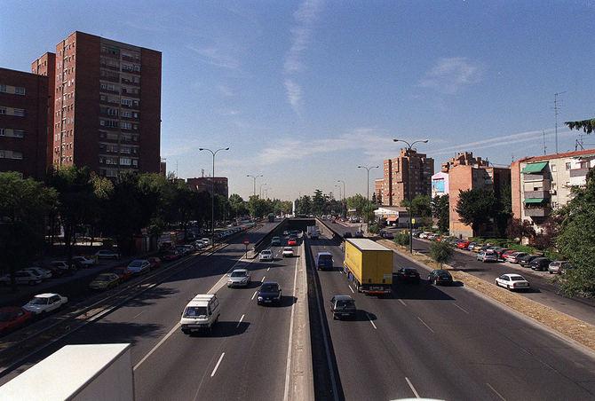 La Plaza Elíptica, uno de los puntos más contaminados de Madrid