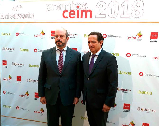 El vicepresidente Rollán participa en el acto de entrega de los I Premios CEIM