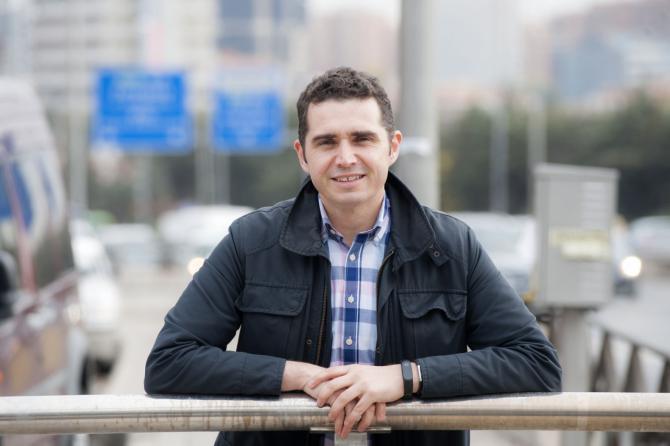 Jorge Donaire, portavoz del PSOE en la Junta de Hortaleza