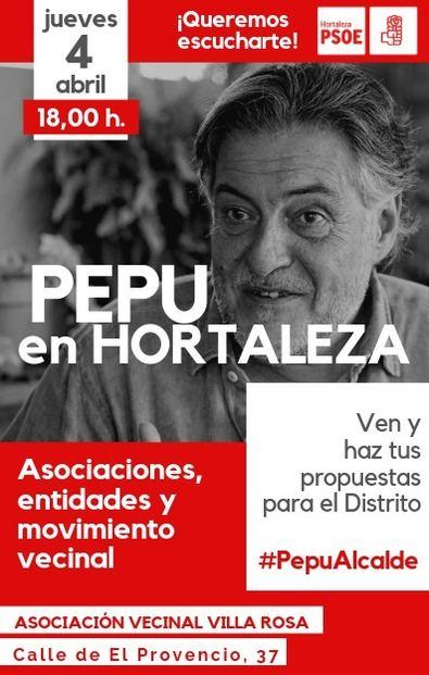 El candidato socialista se reúne con los vecinos de Hortaleza