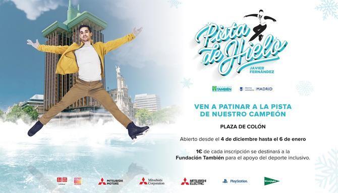La plaza de Colón alberga hasta el 6 de enero la Pista de Hielo Javier Fernández, con recaudación solidaria de fondos
