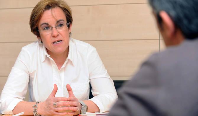 Purificación Causapié recibió a Gaceta Local en su despacho de la calle Mayor.