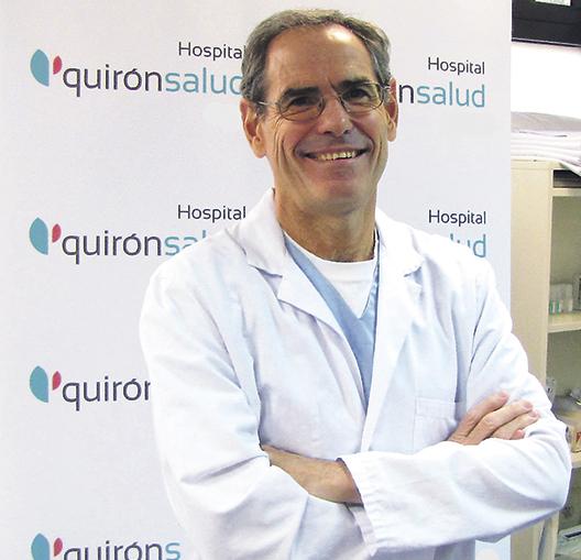 En la imagen, el Dr. Fernando Serrano, Jefe de la Unidad de Optimización Funcional del Hospital Quirónsalud San José.