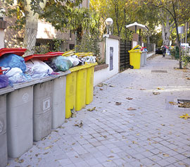 Los basureros, en huelga