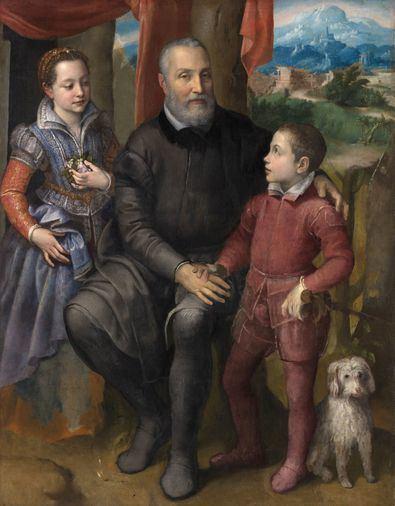 'Retrato de familia Sofonisba Anguissola'. Óleo sobre lienzo h. 1558 Niva (Dinamarca), The Nivaagaard Collection.