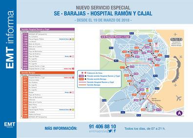 El 19 de marzo, día de estreno para el autobús al Ramón y Cajal