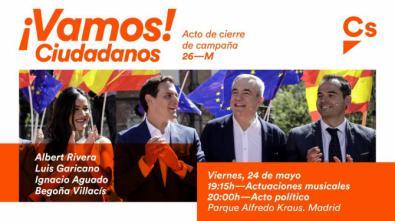 Ciudadanos elige también Hortaleza para cerrar su campaña electoral