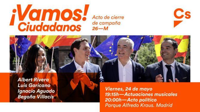 Ciudadanos celebra su cierre de campaña en el parque de Alfredo Kraus