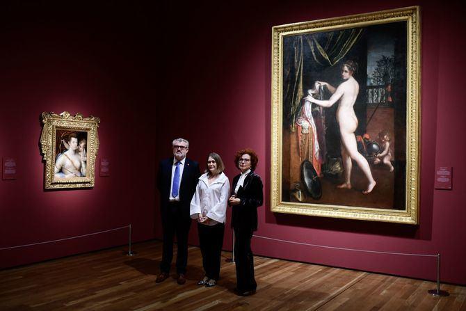 La consejera de Cultura y Turismo de la Comunidad de Madrid, Marta Rivera de la Cruz, ha asistido hoy a la presentación de la exposición 'Historia de dos pintoras: Sofonisba Anguissola y Lavinia Fontana', en el Museo del Prado.