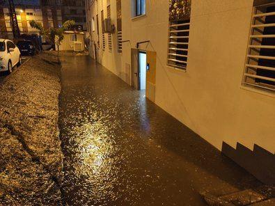 Los bloques reahabilitados, inundados.