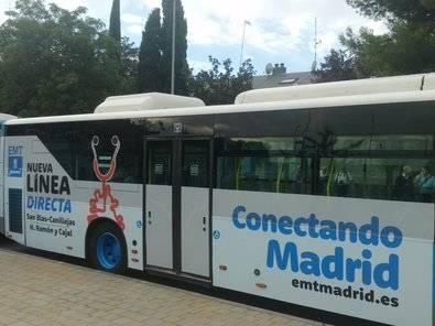 En bus al Ramón y Cajal desde San Blas